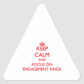 Gardez le calme et le foyer sur des BAGUES DE FIAN Sticker En Triangle