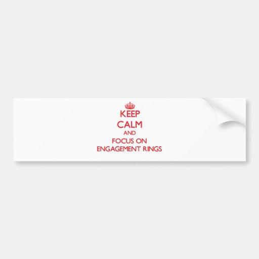 Gardez le calme et le foyer sur des BAGUES DE FIAN Autocollant Pour Voiture