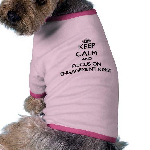 Gardez le calme et le foyer sur des BAGUES DE FIAN T-shirt Pour Animal Domestique