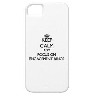Gardez le calme et le foyer sur des BAGUES DE FIAN Étuis iPhone 5