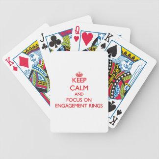 Gardez le calme et le foyer sur des BAGUES DE FIAN Jeux De 52 Cartes