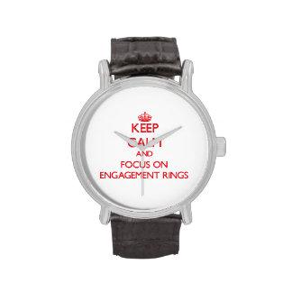 Gardez le calme et le foyer sur des BAGUES DE FIAN Montres Bracelet
