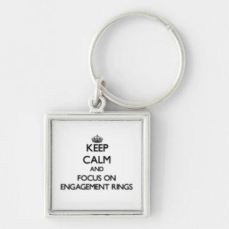 Gardez le calme et le foyer sur des BAGUES DE FIAN Porte-clef