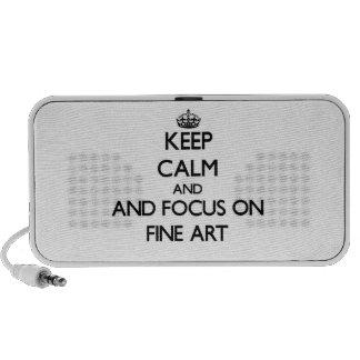Gardez le calme et le foyer sur des beaux-arts haut-parleurs mobiles