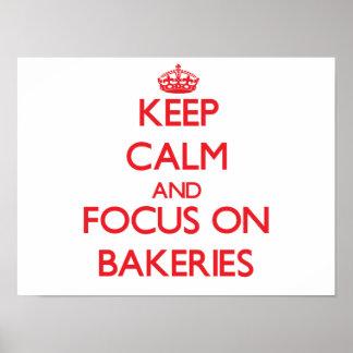 Gardez le calme et le foyer sur des boulangeries