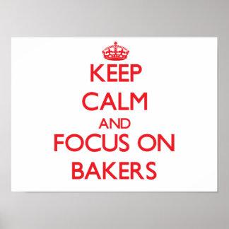Gardez le calme et le foyer sur des boulangers