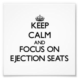 Gardez le calme et le foyer sur des sièges éjectab