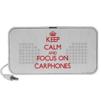 Gardez le calme et le foyer sur des téléphones de