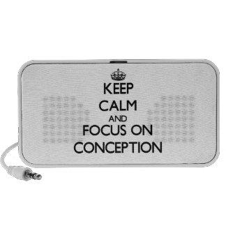 Gardez le calme et le foyer sur la conception haut-parleur ordinateur portable