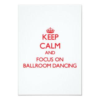 Gardez le calme et le foyer sur la danse de salon carton d'invitation 8,89 cm x 12,70 cm