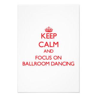 Gardez le calme et le foyer sur la danse de salon bristols personnalisés