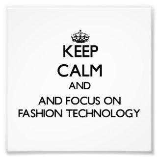Gardez le calme et le foyer sur la technologie de photographes