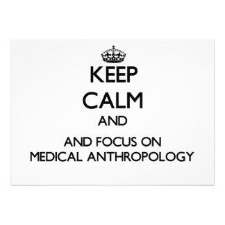 Gardez le calme et le foyer sur l'anthropologie invitation personnalisée
