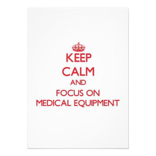 Gardez le calme et le foyer sur le matériel médica bristol