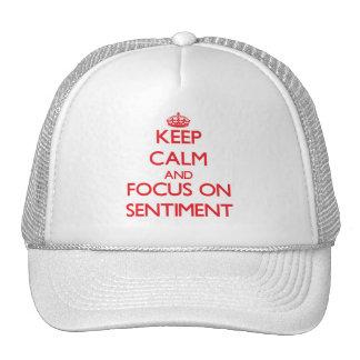 Gardez le calme et le foyer sur le sentiment casquette de camionneur