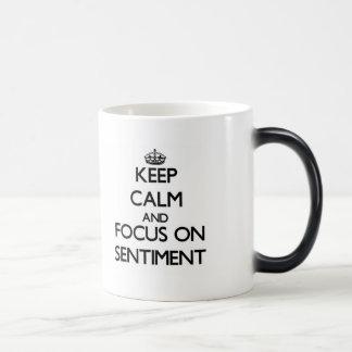 Gardez le calme et le foyer sur le sentiment tasses à café