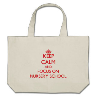 Gardez le calme et le foyer sur l'école maternelle sac