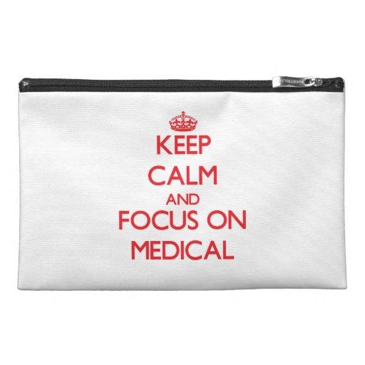 Gardez le calme et le foyer sur médical trousses de voyage