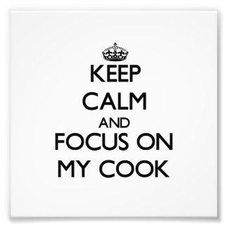 Gardez le calme et le foyer sur mon cuisinier