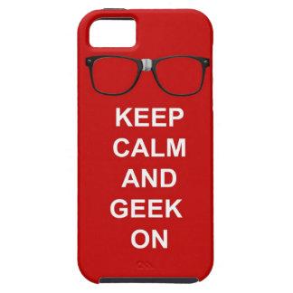 Gardez le calme et le geek dessus coque tough iPhone 5