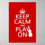 Gardez le calme et le jeu sur (violon) (toute coul affiches