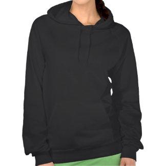 Gardez le calme et marchez une ouatine de femmes d sweatshirt à capuche