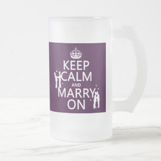 Gardez le calme et mariez sur (la couleur frosted glass beer mug