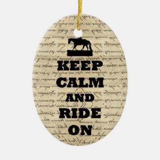Gardez le calme et montez dessus