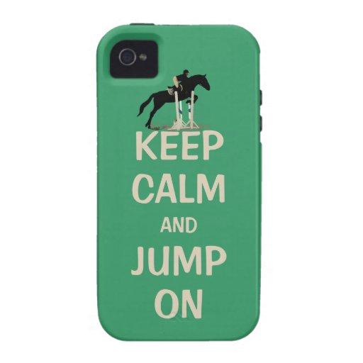 Gardez le calme et sautez sur le cas de l'iPhone 4 Coques Vibe iPhone 4