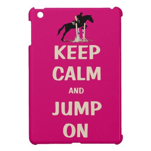 Gardez le calme et sautez sur le cheval rose coques iPad mini