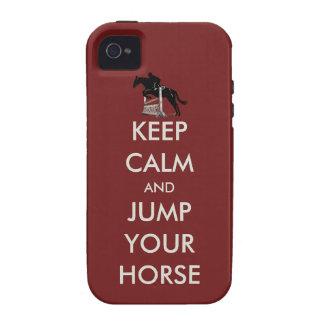 Gardez le calme et sautez votre cas de l iPhone 4 Coques iPhone 4
