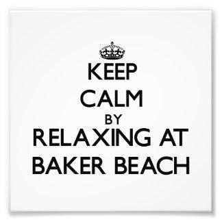 Gardez le calme par la détente à la plage la Calif Photographe