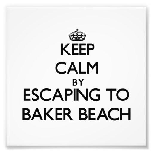 Gardez le calme par l'évasion à la plage la Califo Impressions Photo