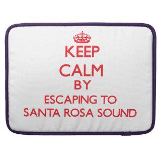 Gardez le calme par l'évasion à Santa Rosa la Flor Poches Pour Macbook Pro