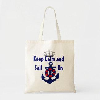 Gardez le calme pour continuer l'ancre sac en toile budget