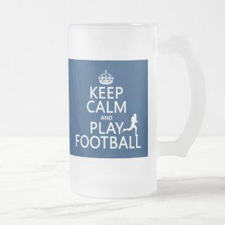Gardez le football de calme et de jeu (la couleur  tasse à café