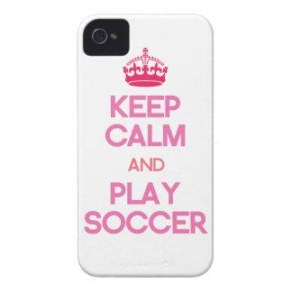 Gardez le football de calme et de jeu le rose coques Case-Mate iPhone 4
