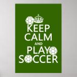 Gardez le football de calme et de jeu (toute coule posters