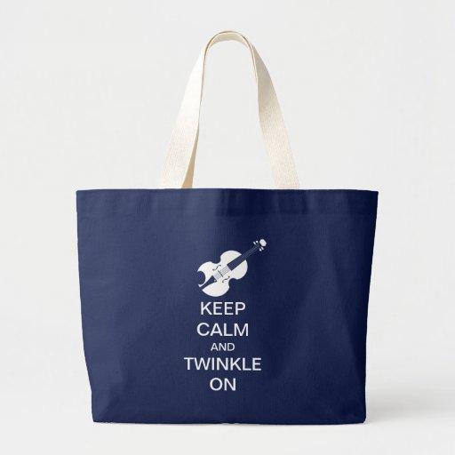 Gardez le scintillement calme sur le sac fourre-to