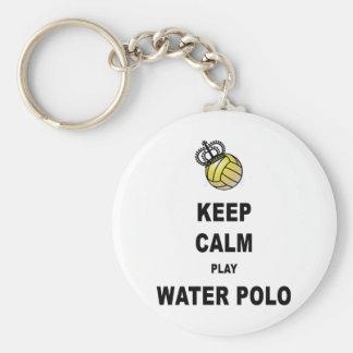 Gardez les produits de polo d'eau de calme et de j porte-clé rond