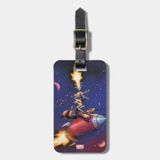 Gardiens du missile d'équitation de la galaxie | étiquettes bagages