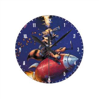 Gardiens du missile d'équitation de la galaxie | horloge ronde