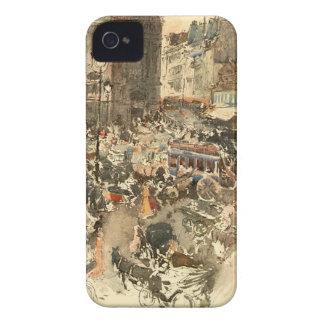 Gare Saint-Lazare Paris 1910 Case-Mate iPhone 4 Case