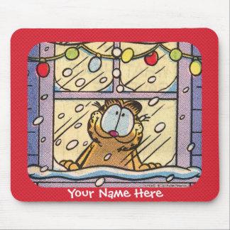 Garfield Christmas Eve Mousepad
