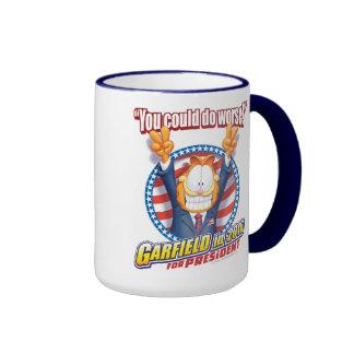 Garfield For President in 2016 Ringer Coffee Mug