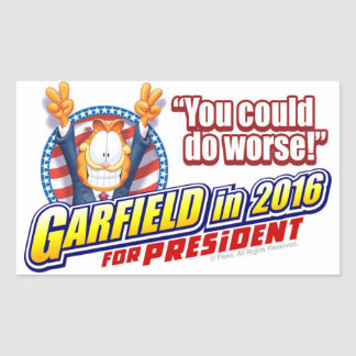 Garfield For President in 2016 Sticker