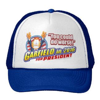 Garfield For President in 2016 Trucker Hat