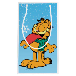 """Garfield """"Let It Snow!"""" Small Gift Bag"""