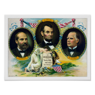 Garfield, Lincoln, and McKinley -- In Memoriam Poster