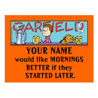 Garfield Logobox Mornings Postcards